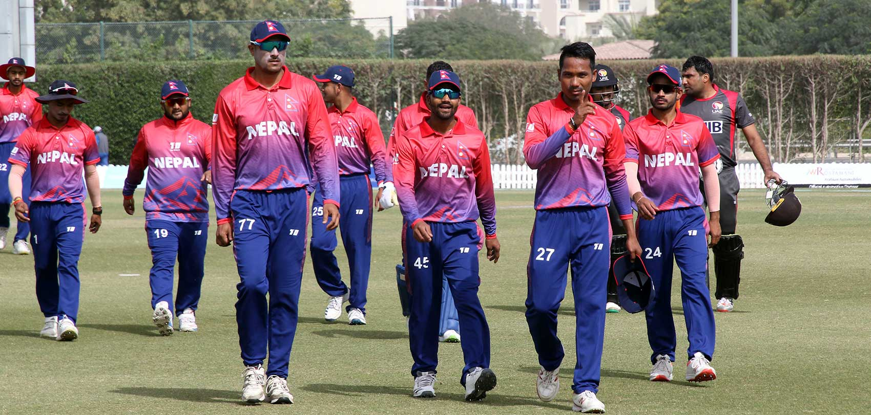 nepali cricket team on uae