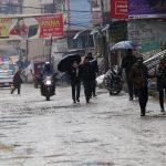 काठमाडौं लगायत अधिकांश स्थान झरीमय, उच्च पहाडी क्षेत्रमा हिमपात