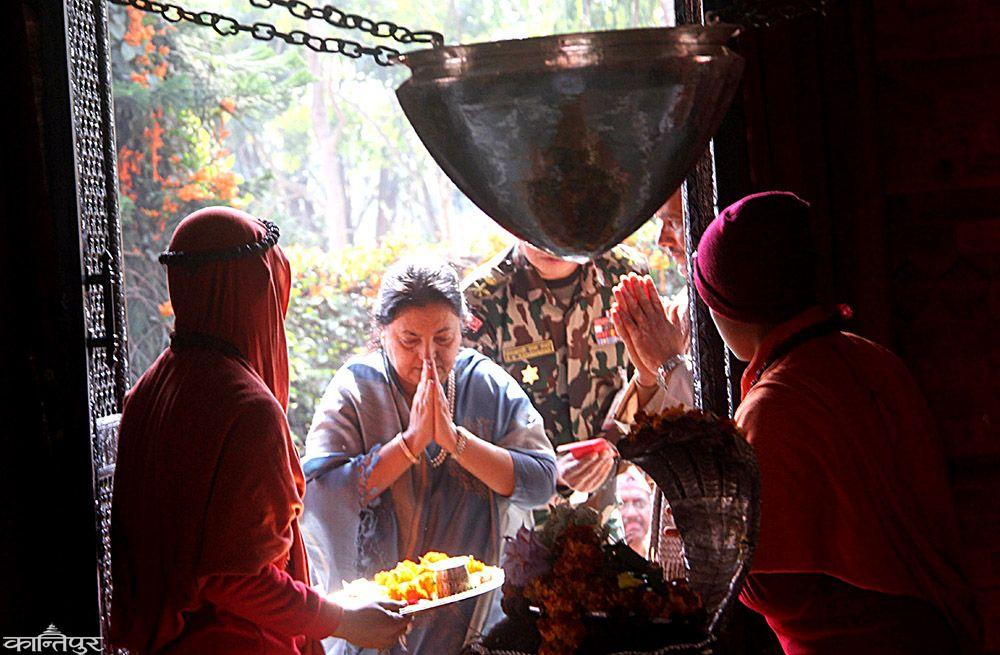 rastapati bhandari worshiping