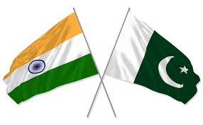 India and Pakistans flags