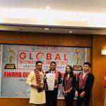 """संचारकर्मी राज लुईटेल थाईलैण्डमा """"ग्लोबल ईन्टरनेशनल मिडिया पर्सनालिटी २०१९"""" बाट सम्मानित"""