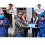 तीन गैरआवासिय नेपालीबाट चेपाङ विद्यार्थीहरुलाई १ लाख ५० हजार रुपैया बराबरको सहयोग